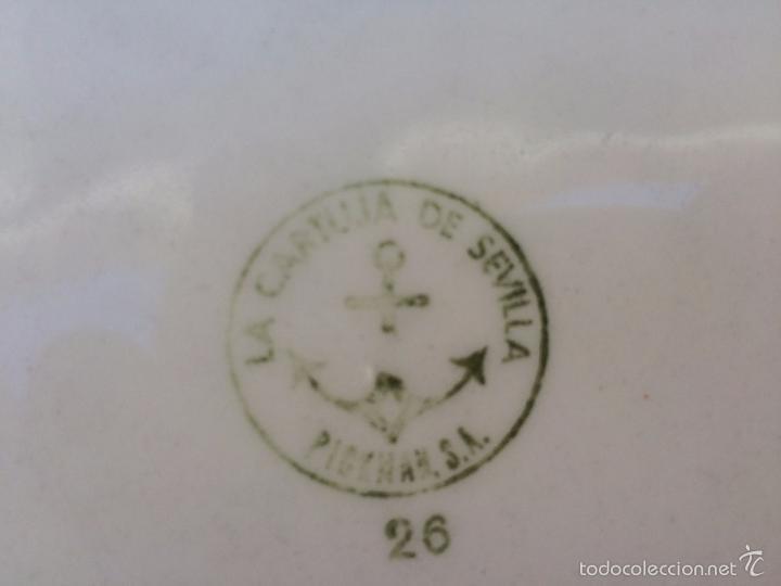 Antigüedades: PLATO DE CERAMICA ESMALTADA LA CARTUJA - Foto 5 - 57060399