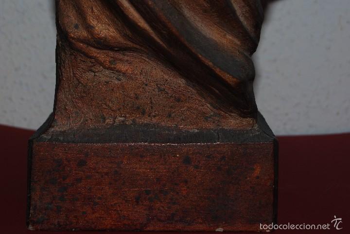Antigüedades: PRECIOSO BUSTO MODERNISTA - FIGURA DE MUJER CON CAPA Y CAPUCHA - MODERNISMO - ART NOUVEAU - C. 1880 - Foto 5 - 57074989