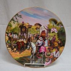 Antigüedades: ROCIO, HERMANDAD DE TRIANA. PLATO DE LOZA DE CARTUJA DE PICKMAN. Lote 57084423