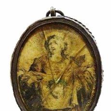 Antigüedades: ANTIGUO RELICARIO DE PLATA IMAGEN LA VERONICA SANTA FAZ- S.XVIII-S.XIX. Lote 57084769