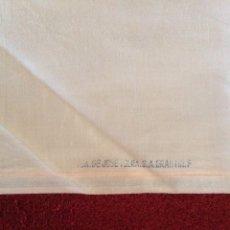 Antigüedades: RETAL SÁBANA ROSA MELOCOTÓN VIUDA DE JOSÉ TOLRA 178 X 80 CM APROX. Lote 57090154