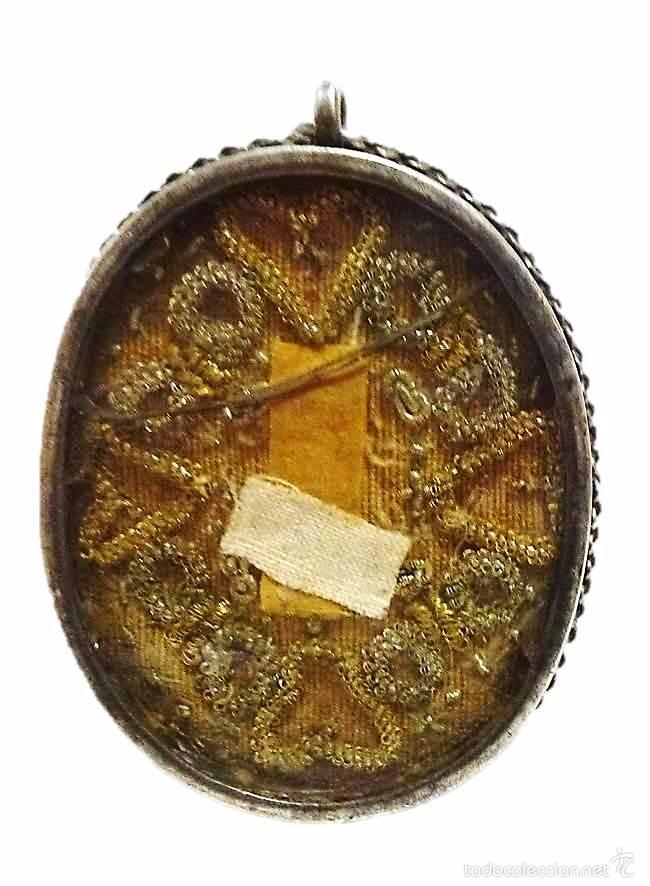 Antigüedades: ANTIGUO RELICARIO DE PLATA IMAGEN LA VERONICA SANTA FAZ- S.XVIII-S.XIX - Foto 5 - 57084769