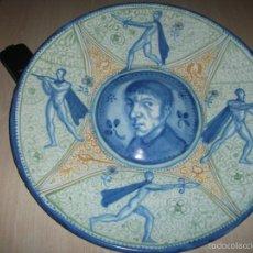 Antigüedades: GRAN PLATO DE CERAMICA JOSEP ARAGAY ? SANTIAGO SEGURA S.C FAYANS CATALA . Lote 57096145