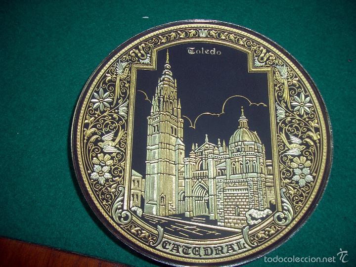Plato damasquinado de toledo la catedral oro comprar - Antiguedades en toledo ...
