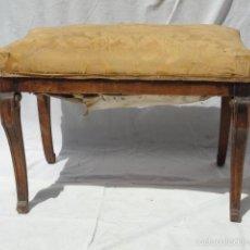 Antigüedades: ANTIGUA BANQUETA AUXILIAR PIE DE CAMA.. Lote 57099384