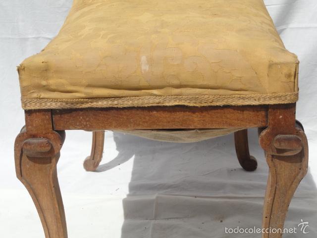 Antigüedades: ANTIGUA BANQUETA AUXILIAR PIE DE CAMA. - Foto 4 - 57099384