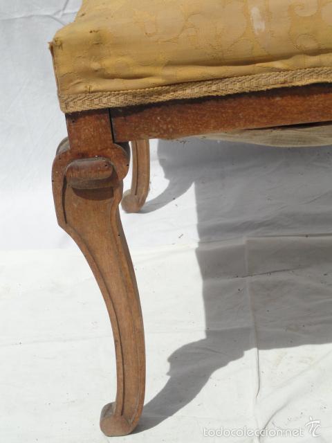 Antigüedades: ANTIGUA BANQUETA AUXILIAR PIE DE CAMA. - Foto 5 - 57099384