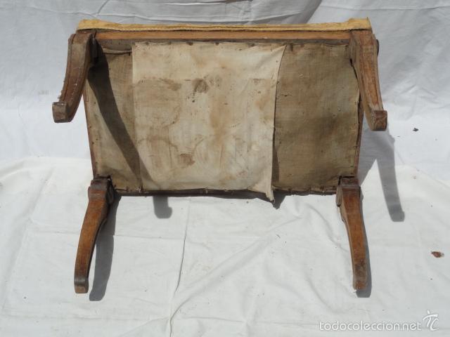 Antigüedades: ANTIGUA BANQUETA AUXILIAR PIE DE CAMA. - Foto 7 - 57099384