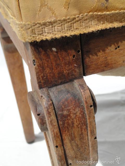 Antigüedades: ANTIGUA BANQUETA AUXILIAR PIE DE CAMA. - Foto 8 - 57099384
