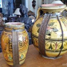Antigüedades: PAREJA DE JARRONES FIRMADOS. Lote 57101380