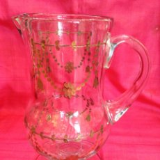 Antigüedades: JARRA DE CRISTAL DE LA GRANJA. Lote 57101973