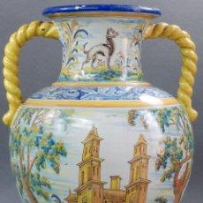 Antigüedades: JARRÓN ANFORA TALAVERA RUIZ DE LUNA PP S XX. Lote 57103804