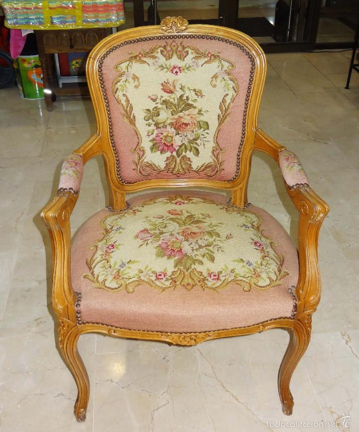 Telas tapizar sillones asientos tapizados con patchwork - Sillones antiguos tapizados ...