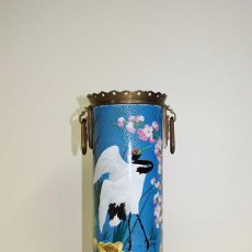 Oggetti Antichi: JARRÓN CHINO ANTIGUO PINTADO A MANO. Lote 57115340