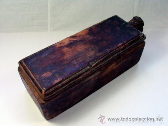 Antigüedades: ANTIGUO SALERO ESPECIERO EN MADERA PROCEDENCIA ASTURIAS ETNOGRAFIA - Foto 2 - 57129197
