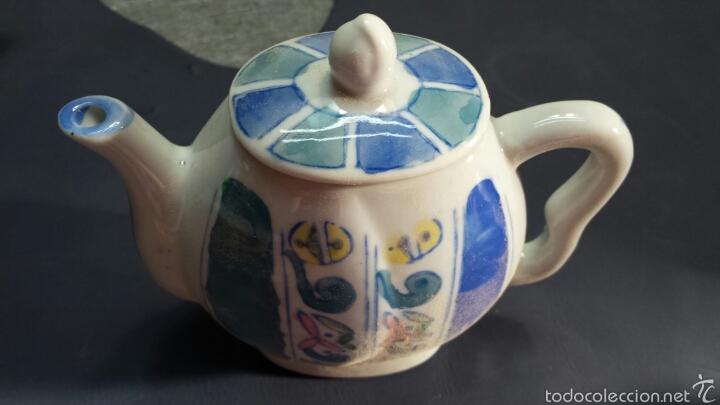 Antigüedades: Colección de 5 preciosas teteras miniatura de Porcelana - Foto 3 - 57136633