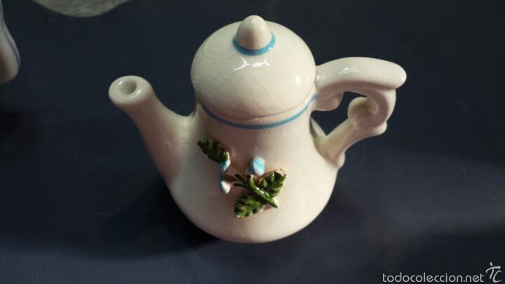 Antigüedades: Colección de 5 preciosas teteras miniatura de Porcelana - Foto 4 - 57136633