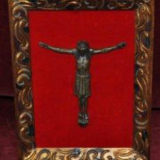 Antigüedades: CRUCIFIJO EN BRONCE DE PRINCIPIOS DEL SIGLO XX. Lote 57147552
