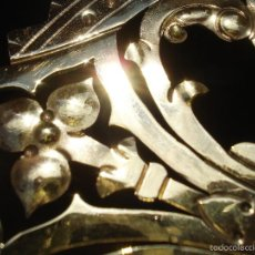 Antigüedades: GRUESA CORONA GALLETA DE LATÓN PARA IMAGEN RELIGIOSA. Lote 57149841