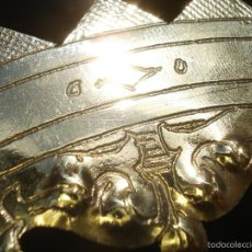 Antigüedades: GRAN CORONA CALADA Y PUNZONADA DE LATÓN. Lote 57149915