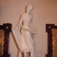 Antigüedades: BONITA FIGURA DE PINTORA REALIZADA EN BISCUIT. Lote 48267660