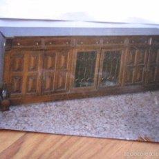 Antigüedades: APARADOR GRANDE Y PUERTAS, 2 ACRISTALADAS MEDIDA 232 X 50 CM. A JUEGO CON LOTE 56723835 ALTURA 82. Lote 57159854
