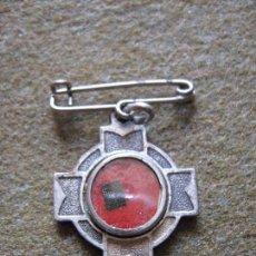 Antigüedades: ANTIGUO ANTIGUO RELICARIO MEDALLA 2X2 CM DEL BEATO MARCELLINI CHAMPAGNAT - CONTIENE RELIQUIA . Lote 57160659
