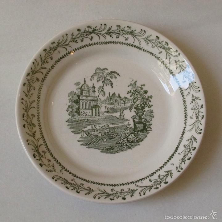 plato pickman platos torre del oro la cartuja cerámica porcelana vajilla segunda mano