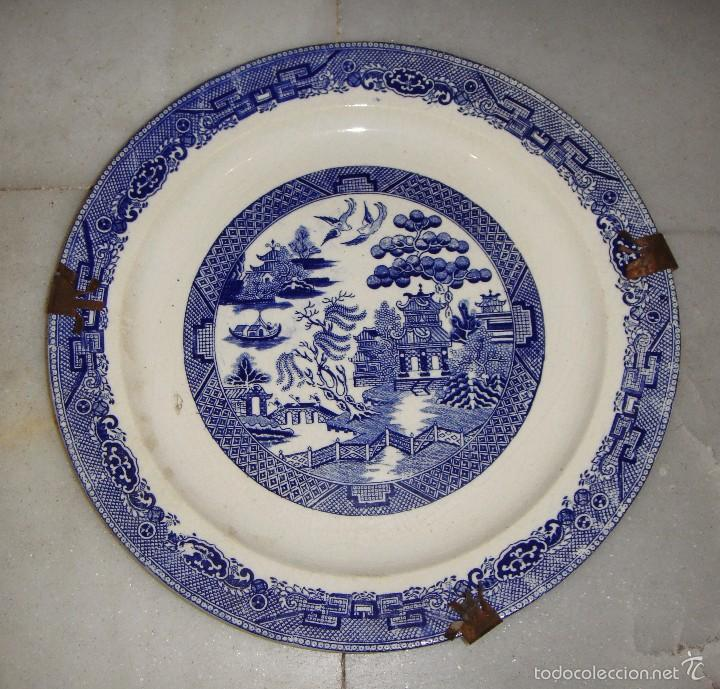 Antigüedades: Bonita Pareja de Platos. Con motivos Chinos. Pickman. China Opaca. - Foto 2 - 57163255