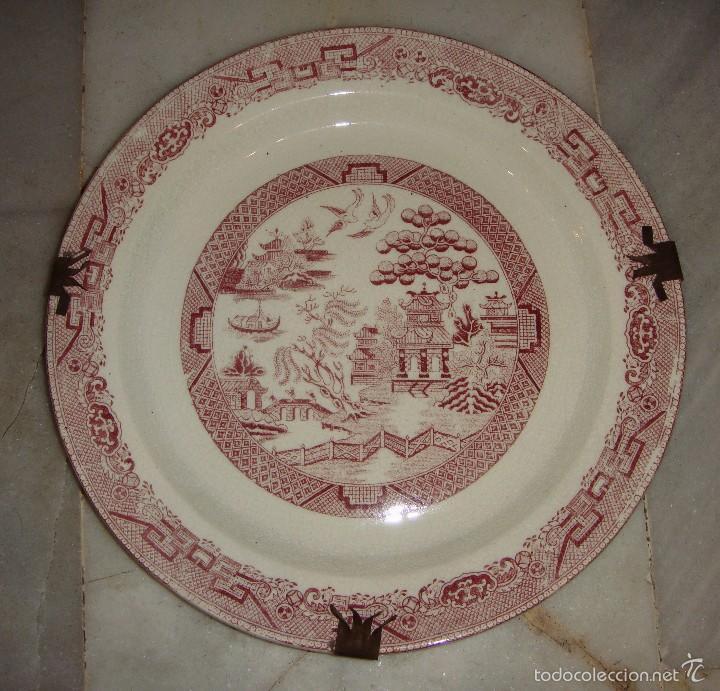 Antigüedades: Bonita Pareja de Platos. Con motivos Chinos. Pickman. China Opaca. - Foto 4 - 57163255