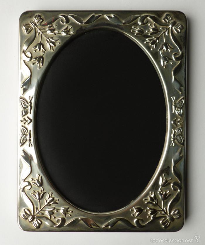 elegante marco portafotos en baño de plata silv - Comprar Marcos ...