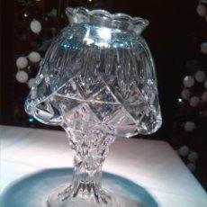 Antigüedades: PRECIOSA LAMPARA QUINQUE CRISTAL TALLADO PARA VELAS. Lote 57175386
