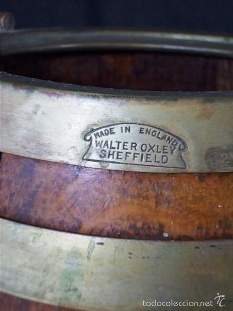 PEQUEÑO BARRIL INGLES DE LA FIRMA WALTER OXLEY. (Antigüedades - Técnicas - Rústicas - Utensilios del Hogar)