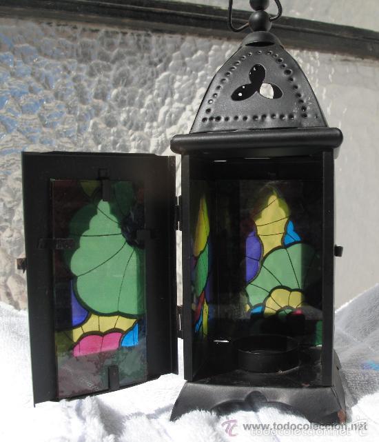 ANTIGUO PORTAVELAS FAROLILLO (Antigüedades - Iluminación - Faroles Antiguos)