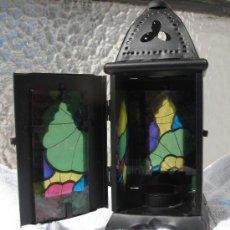 Antigüedades: ANTIGUO PORTAVELAS FAROLILLO. Lote 57185684
