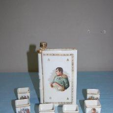 Antigüedades: JUEGO LICORERO EN PORCELANA LIMOGES DE 1920. Lote 57193705