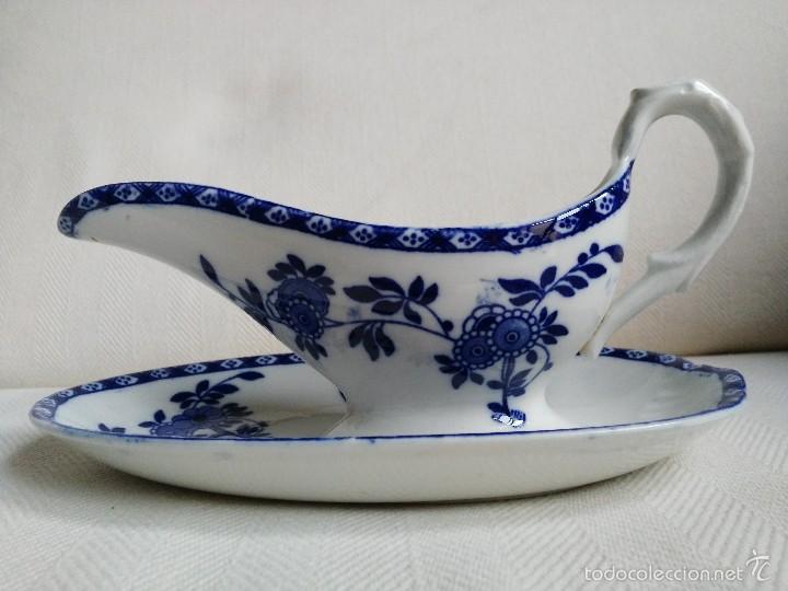 SALSERA SAN JUAN AZNALFARACHE SERIE INDIA (Antigüedades - Porcelanas y Cerámicas - San Juan de Aznalfarache)