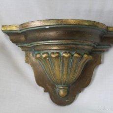 Antigüedades: MENSULA EN ESCAYOLA DORADA ENVEJECIDA. Lote 57200820