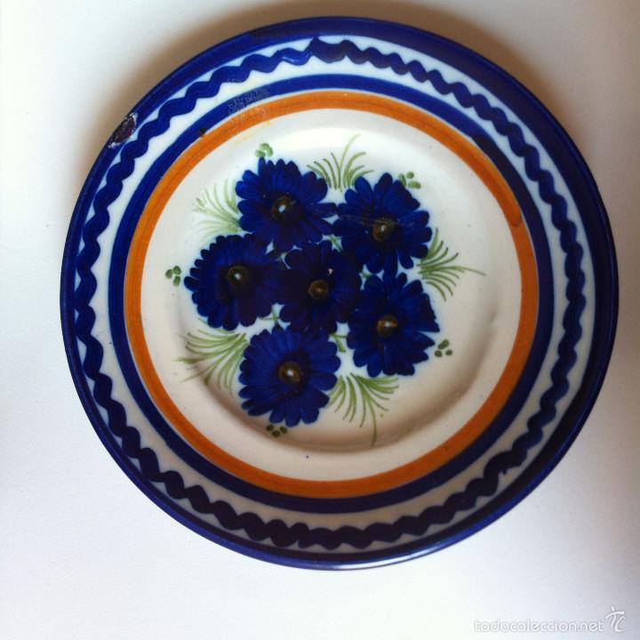 PLATO DE CERÁMICA DE TALAVERA / PUENTE DEL ARZOBISPO, SELLADO RDM PAR, PEQUEÑO, 15 CM (Antigüedades - Porcelanas y Cerámicas - Talavera)