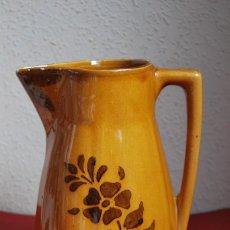 Antigüedades: JARRA DE CERÁMICA VIDRIADA - DECORADA CON FLORES. Lote 57207806