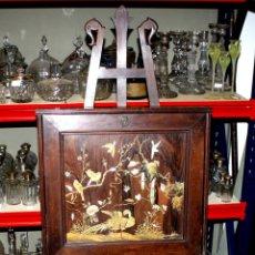 Antigüedades: ESCRITORIO ABATIBLE. ESTILO JAPONISTA. MADERAS PRECIOSAS Y NÁCAR. ESPAÑA. SIGLO XIX. Lote 56292417