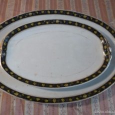 Antigüedades: DOS FUENTES DE PORCELANA ALEMANA. Lote 57225672