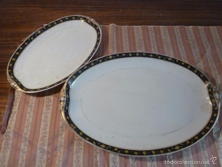 Antigüedades: DOS FUENTES DE PORCELANA ALEMANA - Foto 5 - 57225672