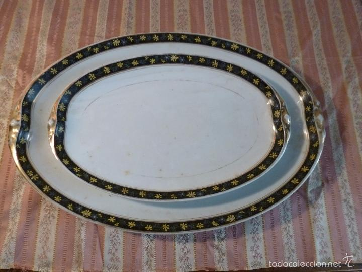 Antigüedades: DOS FUENTES DE PORCELANA ALEMANA - Foto 6 - 57225672