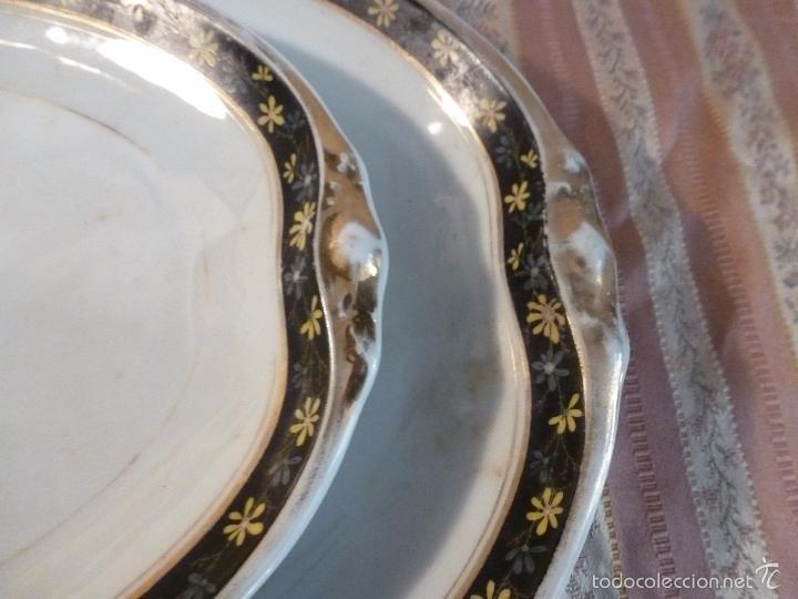 Antigüedades: DOS FUENTES DE PORCELANA ALEMANA - Foto 7 - 57225672