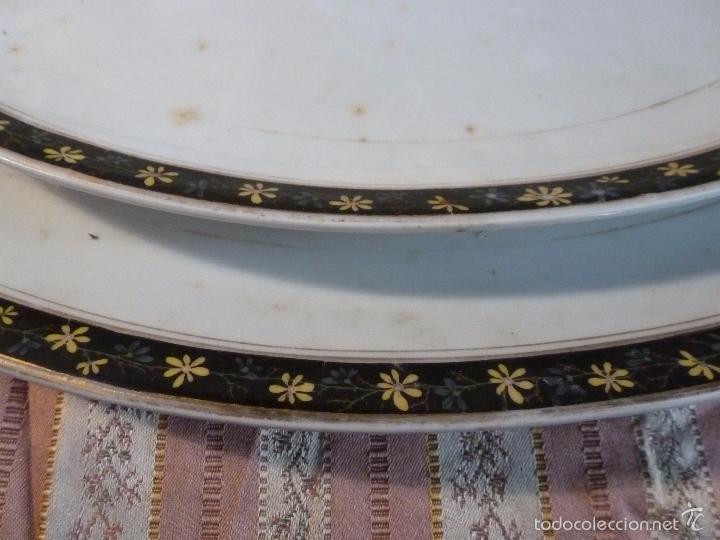 Antigüedades: DOS FUENTES DE PORCELANA ALEMANA - Foto 9 - 57225672