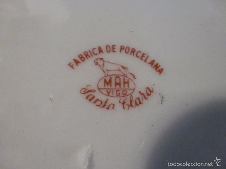 Antigüedades: CUENCO FRUTERO DE PORCELANA SANTA CLARA - Foto 2 - 57225744