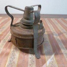 Antigüedades: MECHERO HORNILLO DE HIERRO. Lote 57226318