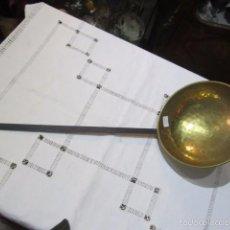 Antigüedades: CAZO O CUCHARÓN METÁLICO PARA COLGAR. 17,5 CMS. DIÁMETRO X 42 CMS. LARGO.. Lote 57228593