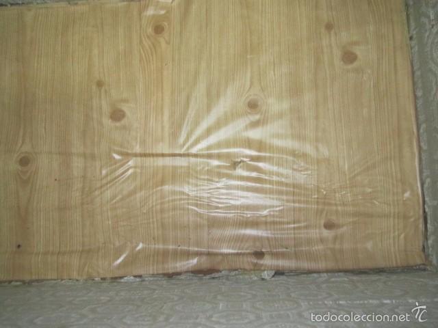 Antigüedades: Antiguo baúl de madera con herrajes metálicos. Interior forrado. 93 x 56 x 72 cms. altura. - Foto 12 - 57228805